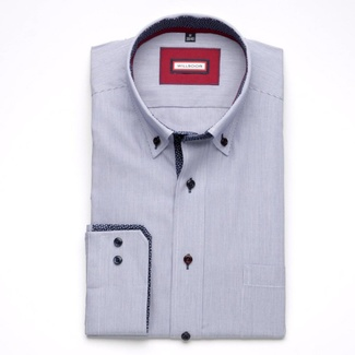 Men shirt Slim Fit (height 176-182) 5709 in blue color with fine strip