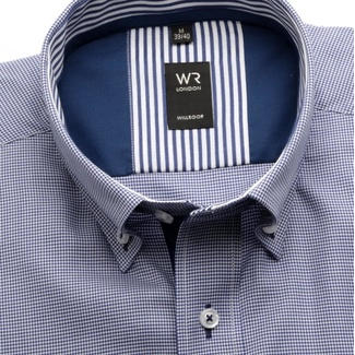 Men shirt London (height 176-182) 5713 in blue color with fine