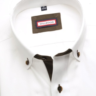 Men shirt Classic (height 176-182) 5741 in white color