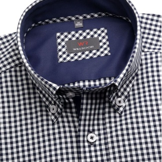 Men shirt Slim Fit (height 176-182) 5748 with blue-white checked
