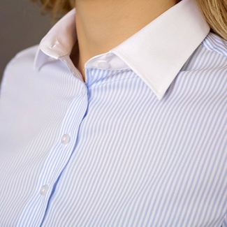 Women shirt Willsoor 5762 in white color