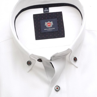 Men shirt London (height 176-182) 5768 in white color