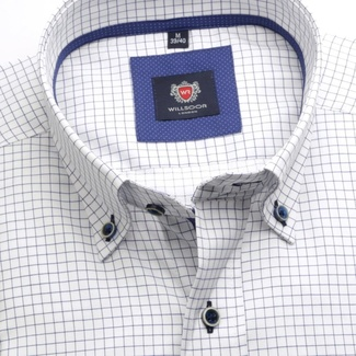Men shirt London (height 176-182) 5772 in white color