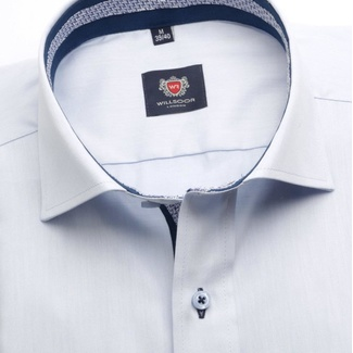 Men shirt London (height 176-182) 5780 in blue color