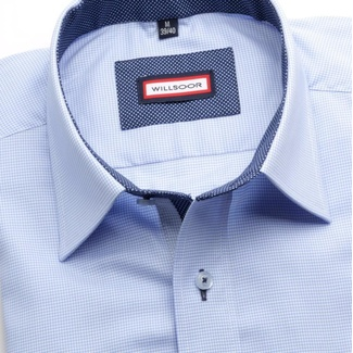 Men shirt Slim Fit (height 164-170) 5792 in blue color