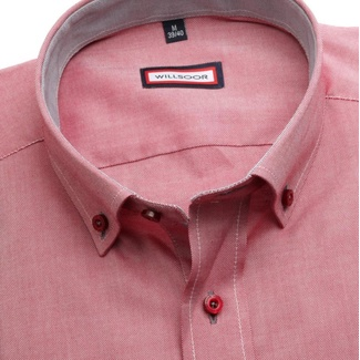 Men shirt Slim Fit (height 176-182) 5814 in red color
