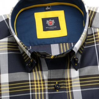 Men shirt London (height 176-182) 5815 with coloured checked