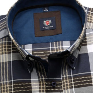 Men shirt London (height 176-182) 5817 with coloured checked