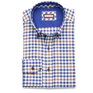 Men shirt Slim Fit (height 176-182) 5824 with coloured checked