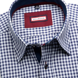 Men shirt Classic (height 188-194) 5837 in white color with checked