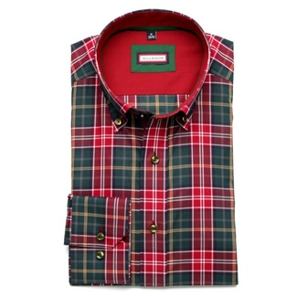 Men shirt Slim Fit (height 176-182) 5840 in red color with checked