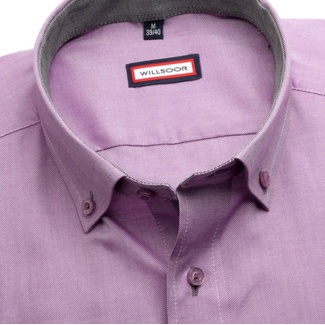 Men shirt Slim Fit (height 176-182) 5842 in violet color