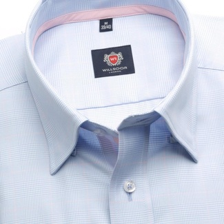 Men shirt London (height 188-194) 5867 in light blue color with cube