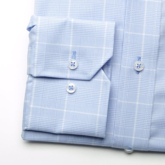 Men shirt Slim Fit (height 176-182) 5878 in blue color