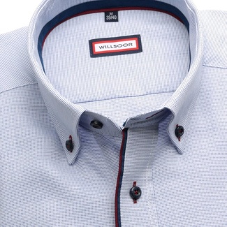Men shirt Slim Fit (height 176-182) 5888 in blue color