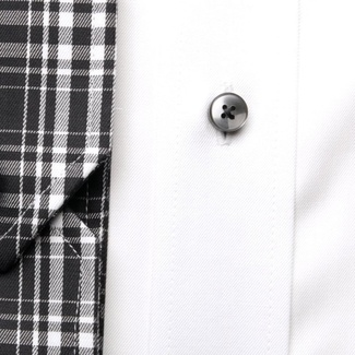Men classic shirt London (height 188-194) 5945 in white color with formula 2 W Plus