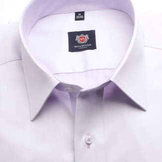 Men slim fit shirt London (height 164-170) 5948 in violet color with formula Easy Care