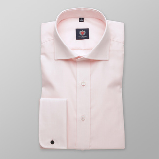 Men slim fit shirt London (height 176-182) 5971 in pink color with formula 2W Plus