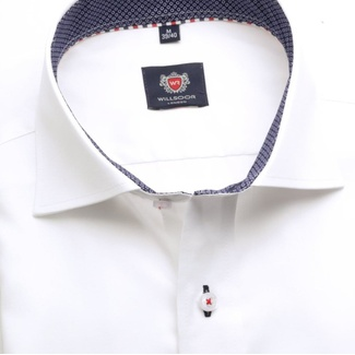 Men slim fit shirt London (height 176-182) 5976 in white color with formula Easy Care