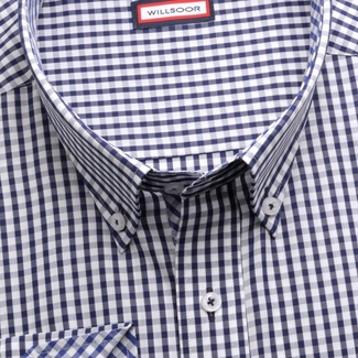 Men classic shirt Classic (height 176-182 I 188-194) 5977 with white-blue checked