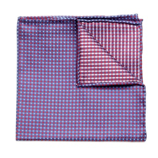 Men handkerchief to pocket Willsoor (pattern 98) 5984 in light blue color, Willsoor