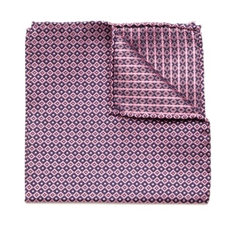 Men handkerchief to pocket Willsoor (pattern 101) 5987 in pink color, Willsoor
