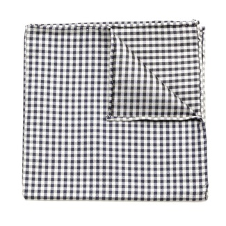 Men handkerchief to pocket Willsoor (pattern 102) 5988 with checked pattern