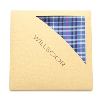 Men handkerchief to pocket Willsoor (pattern 103) 5989 in blue color, Willsoor
