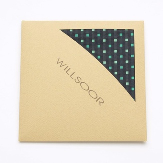 Men handkerchief to pocket Willsoor (pattern 107) 5993 in black color, Willsoor