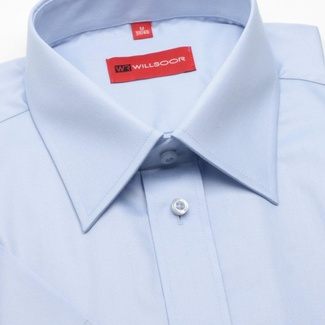 Men slim fit shirt short sleeve (height 176/182) 601 in blue color