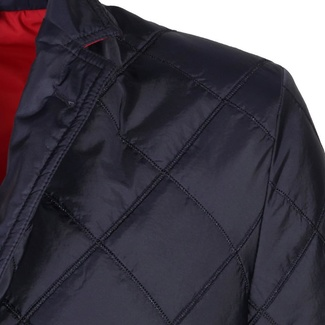 Men jacket with quilting (height 176-182) 6028 in dark blue color
