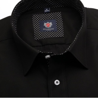 Men classic shirt London (height 188-194) 6123 in black color with formula Easy Care