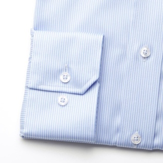 Men slim fit shirt London (height 198-204) 6156 in light blue color with white strip