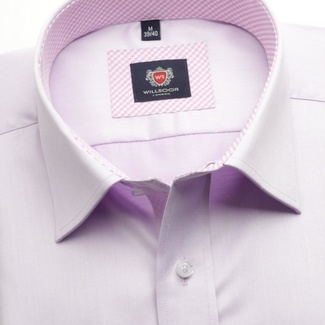 Men shirt slim fit London (height 164-170) 6218 in violet color with formula Easy Care