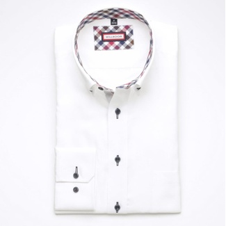 Men Slim Fit shirt (height 176-182) 6234 in white color with formula Easy Care