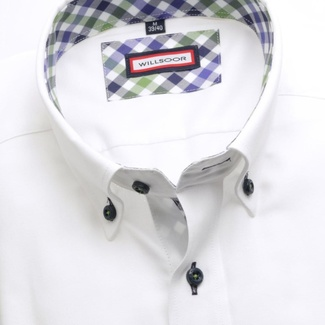 Men's slim fit shirt (height 176-182) 6235 in white color with formula Easy Care