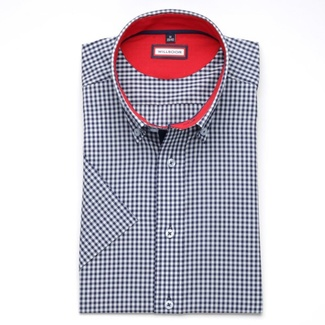 Men slim fit shirt (height 176-182) 6273 with short sleeve a formula Easy Care