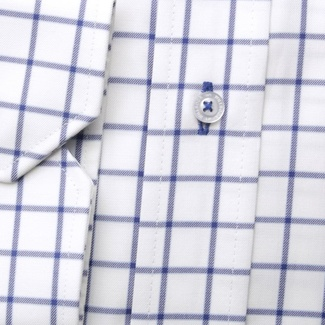 Men classic shirt London (height 176-182) 6298 in white color with checked a formula Easy Care