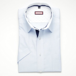 Men slim fit shirt (height 176-182) 6345 in light blue color with short sleeve