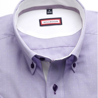 Men slim fit shirt (height 176-182) 6379 in violet color with formula Easy Care