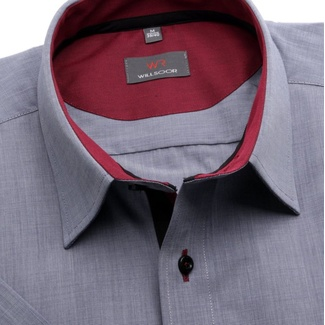 Men slim fit shirt (height 176-182) 6381 in gray color with formula Easy Care