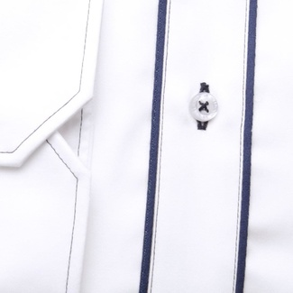 Men slim fit shirt (height 176-182) 6412 in white color with formula Easy Care