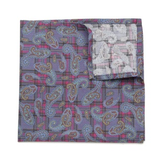 Men handkerchief to pocket Willsoor (pattern 107) 6485 with checked, Willsoor