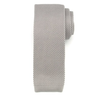 Men woven tie Willsoor 6514 in gray color, Willsoor