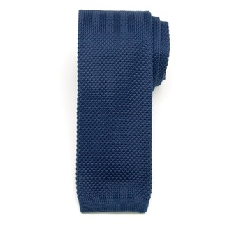Men woven tie Willsoor 6515 in dark blue color, Willsoor
