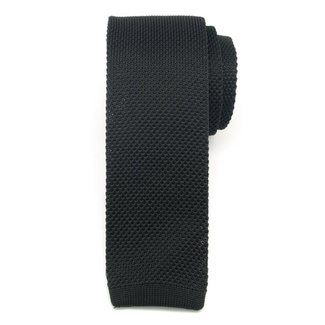 Men woven tie Willsoor 6516 in black color