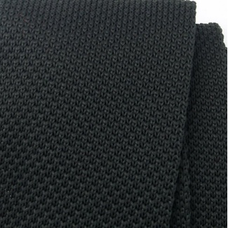 Men woven tie Willsoor 6516 in black color, Willsoor