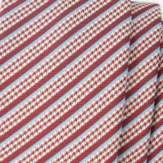 Men narrow tie (pattern 1205) 6544 in red color, Willsoor