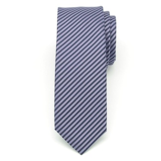 Men narrow tie (pattern 1208) 6547 with blue-violet 'herringbone' pattern, Willsoor