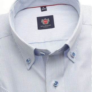 Men slim fit shirt London (height 176-182) 6566 with fine strip a formula Easy Care